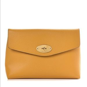 MULBERRY Grain Calfskin Large Cosmetic Pouch